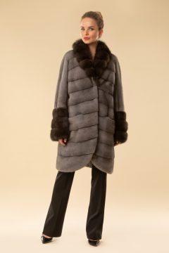 Пальто из норки