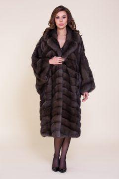 Пальто-летучка из меха соболя