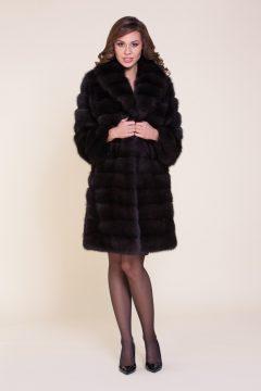 пальто из куницы под соболя