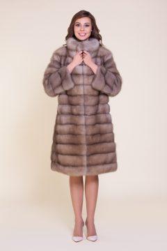пальто из куницы