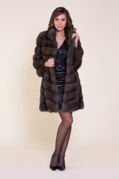 пальто из баргузинского соболя
